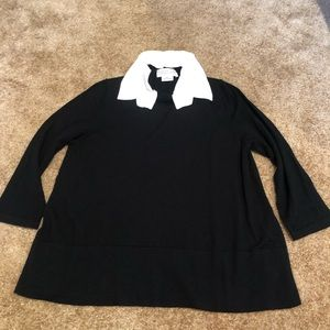 Kate Spade Black Sweater with White Collar